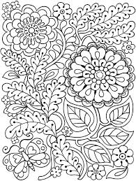 coloring flowers flower coloring pages