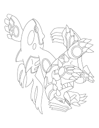 Incredible Groudon Pokemon Coloring Pages Easy Primal Kyogre