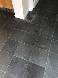 slate floor duxford before cleaning