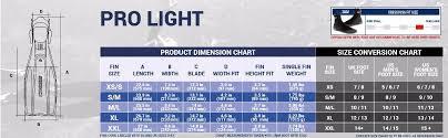 Cressi Pro Light Scuba Diving Fins Adjustable
