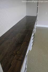 distressed wood countertop via sawdustgirl