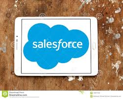 Salesforce Logo Salesforce Company Logo Editorial Photo Image Of