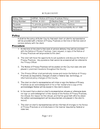 8+ Policies And Procedures Template | Cashier Resume Regarding Hipaa ...
