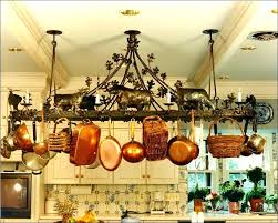 pot rack ideas wall mounted and pan ceiling holder hanging hanger hangin