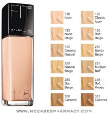 Maybelline Foundation Color Chart Maybelline Fit Me Foundation Shades In 2019 Maybelline Fit