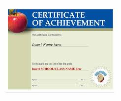 School Certificates Template 40 Great Certificate Of Achievement Templates Free