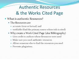 How Do You Do A Works Cited Page Authentic Resources The Works Cited Page Ppt Video