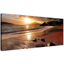 large sunset beach scene golden brown landscape modern canvas art 120cm 1131 on beach scene canvas wall art with wide canvas prints of a beach sunset for your living room