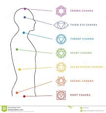 Aura Chart Chakra System Of Human Body Energy Centers Stock Vector