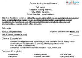 Resume For Nursing Student Resume Templates