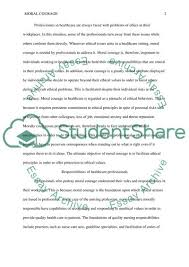Moral Courage Essay Example Topics And Well Written Essays