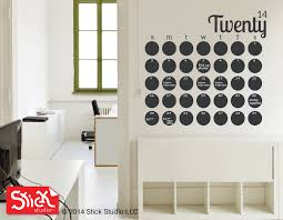large calendar wall decal chalkboard calendar decal