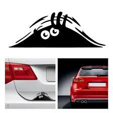 Car Stickers <b>Funny</b> Peeking Monster Reflective Waterproof Fashion ...