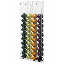 wall mounted acrylic nespresso capsule holder coffee pod stand
