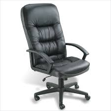 C Boss Office Products Leather High Back Executive Chair In Black