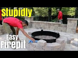 diy patio with fire pit. Super Easy Fire Pit Build - DIY How To A Patio Firepit Little Known Tips, Design \u0026 Ideas Diy With E