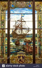 Tiffany Window At The New York Historical Society New York City Ny