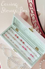 diy jewelry storage diy earring storage box do it yourself crafts and projects for