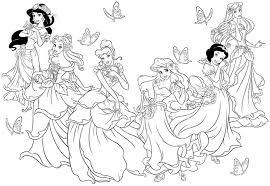 Free Printable Disney Princess Coloring Pages For Kids With And ...
