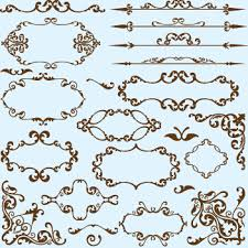 simple frame border design. Simple Frame With Borders And Ornaments Vector Design 04 Border I