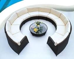 round outdoor sectional sofa modern