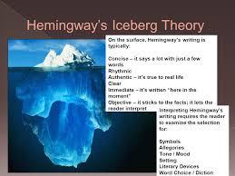 introduction to hemingway style ppt  2 hemingway s iceberg theory
