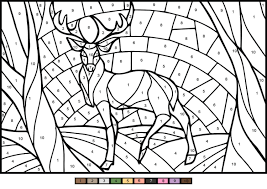 This is a list of the top 21 number coloring sheets that you can use to introduce numbering as well as your kids will surely have a fun time doing these free printable number coloring pages. Deer Color By Number Coloring Page Free Printable Coloring Pages For Kids