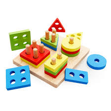Game With Wooden Blocks Hot Kids Gift Montessori Educational Toy Game Blocks Matching 98