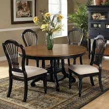 round wood dining table set wood round oval dining table chairs in pine rubbed black by round wood dining table set