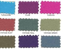 Color Chart Fabric Swatches