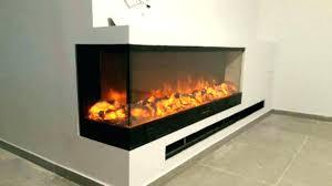 3 sided electric fireplace s peninsula glass