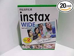 Fujifilm instax Wide Instant Film, 20 Exposures, White ... - Amazon.com