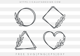 In this post you can see a good list of free svg icons, there. Free Leaf Frame Svg Png Eps Dxf By Caluya Design