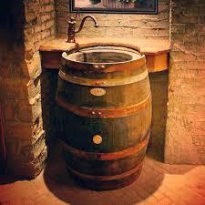 various barrel sink bathroom whiskey barrel vanity best wine barrel sink ideas on various barrel sink bathroom