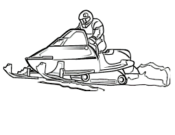 Snowmobile In The Winter Sports Coloring