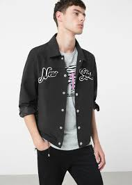 <b>New york</b> cotton-blend <b>jacket</b> - Man | OUTLET United Kingdom