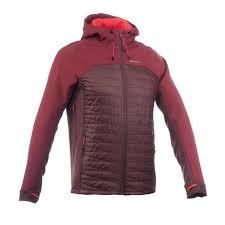 quechua men s trek 900 hybrid softshell brown mountain trekking jacket