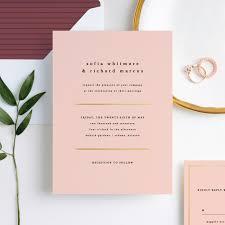 Wedding Invitatiins Less Is More Wedding Invitations Paper Culture