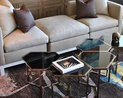living room with grey tete a tete sofa