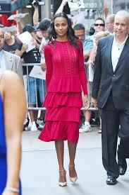 zoe saldana arrives at good morning america in new york 07 18 2016
