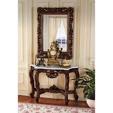 hallway table and mirror. Console Table Design Hall And Mirror Set The Dordogne Toscano Royal Baroque From Bombay Company Hallway L