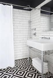 black and white diamond tile floor. Black And White Diamond Pattern Bath Shower Floor Tile -