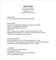 resume for undergraduate undergraduate sample resume undergraduate student resume