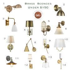 brass wall sconces under 150