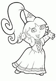 Click on the button at the bottom of the page to print. Printable Coloring Pages For Girls Dora Printables And Charts With Regard To Printable Coloring Pages Fo Princess Coloring Pages Dora Coloring Coloring Pages