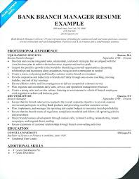 Resume For A Bank Manager Resume Fresh Sample Resume Resume