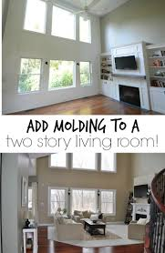 Molding For Living Room How Should We Decorate These Very Tall Walls Molding Ideas