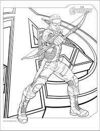Small Picture Avengers Hawkeye Coloring Page Adult coloring pages Pinterest