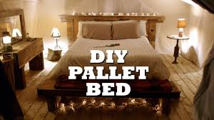 how to build a rustic pallet bed headboard