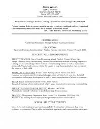 Bilingual Teacher Resume Examples Kindergarten Elementary Teacher